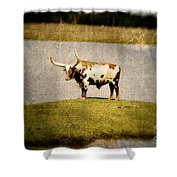 Longhorn Shower Curtain by Scott Pellegrin