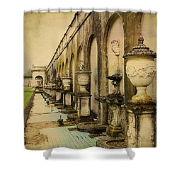 Shower Curtain featuring the photograph Longwood Gardens Fountains by Trina  Ansel