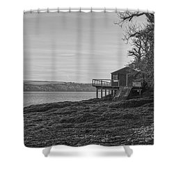 Lonley Boat House Shower Curtain