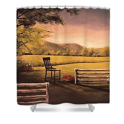 Lonsesome Chair Shower Curtain