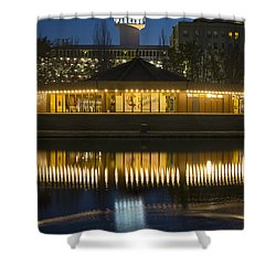 Looff Carrousel Reflection Shower Curtain