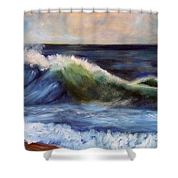 Shower Curtain featuring the painting Look At Me by Michael Helfen