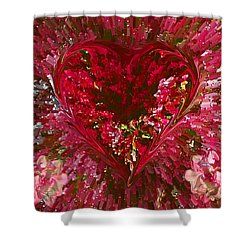 Look Deep Into My Heart Shower Curtain