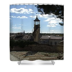 Look Out Tower On The Approach To Beaucaire Castle Shower Curtain