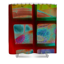 Look Through Any Window Shower Curtain by Martin Howard