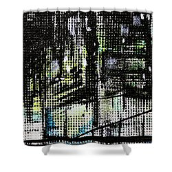Look Up Manhattan At Night Shower Curtain by Jack Diamond