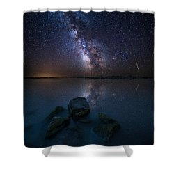 Looking At The Stars Shower Curtain