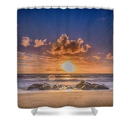 Looking At The Sun Shower Curtain