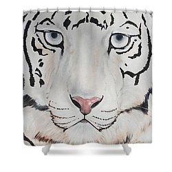 Looking At You Shower Curtain by Patricia Olson
