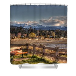 Looking Back Shower Curtain by Randy Hall