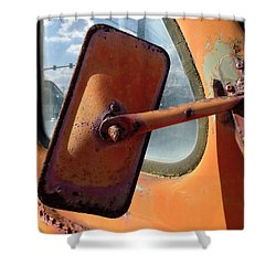 Looking Back Shower Curtain by Richard Reeve
