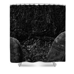 Looking Down On Space Shower Curtain by Karol Livote