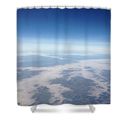 Looking Down On The Earth Shower Curtain by Daniel Precht