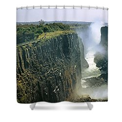 Looking Down The Victoria Falls Gorge Shower Curtain