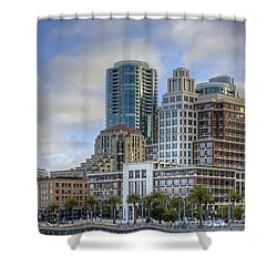 Shower Curtain featuring the photograph Looking Downtown by Kate Brown