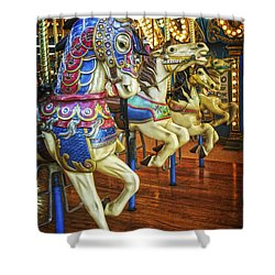 Shower Curtain featuring the photograph Dancing Horses by Debra Fedchin
