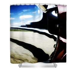 Shower Curtain featuring the photograph Looking Forward by Paul Job