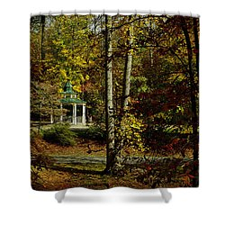 Looking Into Fall Shower Curtain