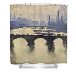 Looking Out Of My Window Circa 1890 Shower Curtain by Aged Pixel