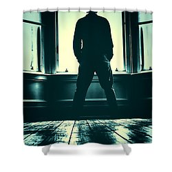 Looking Out Window Shower Curtain by Craig B