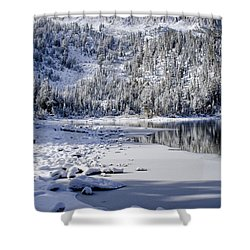 Looking Over Mcleod Shower Curtain by Chris Brannen