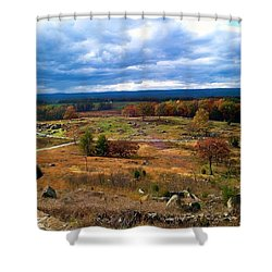 Looking Over The Gettysburg Battlefield Shower Curtain