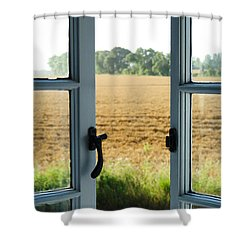 Looking Through A Window Shower Curtain by Chevy Fleet