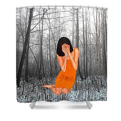 Looking Through My Fingers 3 Shower Curtain by Patrick J Murphy