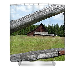 Looking Thru The Fence Shower Curtain by Alan Socolik
