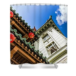 Shower Curtain featuring the photograph Looking Up by Kate Brown