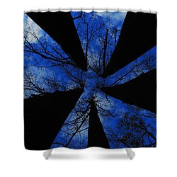 Looking Up Shower Curtain by Raymond Salani III