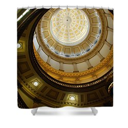 Looking Up The Capitol Dome - Denver Shower Curtain by Dany Lison