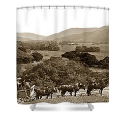 Looking Up The Carmel Valley California Circa 1880 Shower Curtain