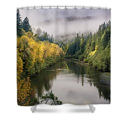 Looking Up The Eel River Shower Curtain