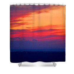 Lookout Mountain Sunset Shower Curtain
