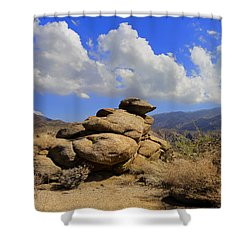 Lookout Rock Shower Curtain by Michael Pickett
