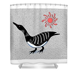 Loon And Sun Shower Curtain