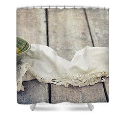 Loosely Draped Shower Curtain by Priska Wettstein