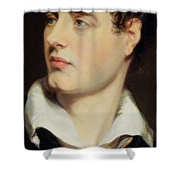 Lord Byron Shower Curtain by William Essex