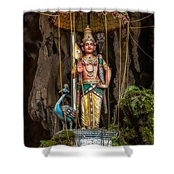 Lord Murugan Statue Shower Curtain by Adrian Evans