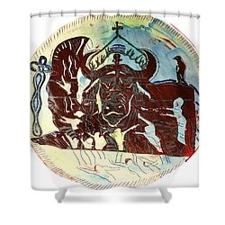 Lord Of The Dance Shower Curtain by Gloria Ssali
