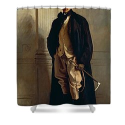 Lord Ribblesdale Shower Curtain by John Singer Sargent