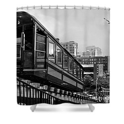Los Angeles Angels Flight.bw Shower Curtain by Jennie Breeze