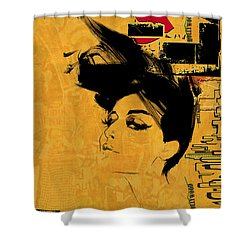 Los Angeles Collage 2 Shower Curtain by Corporate Art Task Force