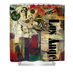 Los Angeles Collage  Shower Curtain by Corporate Art Task Force