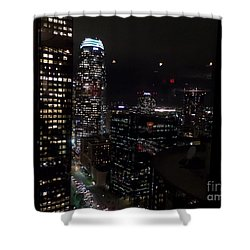 Los Angeles Nightscape Shower Curtain