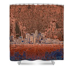 Los Angeles Skyline Abstract 7 Shower Curtain