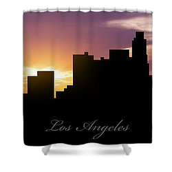 Los Angeles Sunset Shower Curtain by Aged Pixel