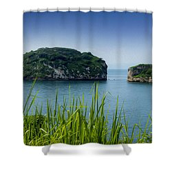 Los Arcos Puerto Vallarta Mexico Shower Curtain by Aged Pixel
