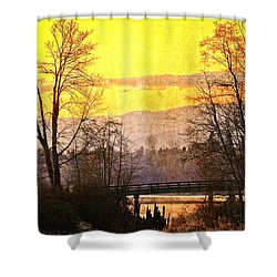 Lost Along The River Shower Curtain by Eti Reid